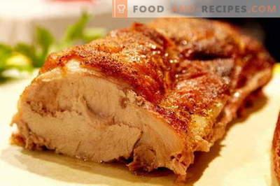 Im Ofen gebackenes Schweinefleisch - die besten Rezepte. Wie man richtig und lecker Schweinefleisch im Ofen kocht.