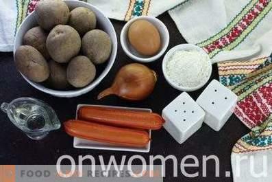 Pfannkuchen mit Würstchen