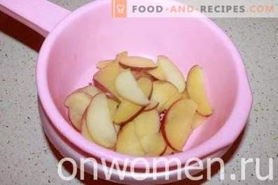 Blätterteigrosen mit Äpfeln
