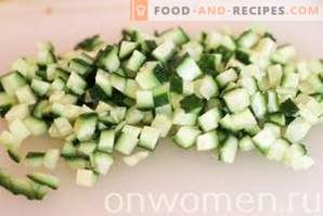 Avocado-, Hähnchen- und Maissalat