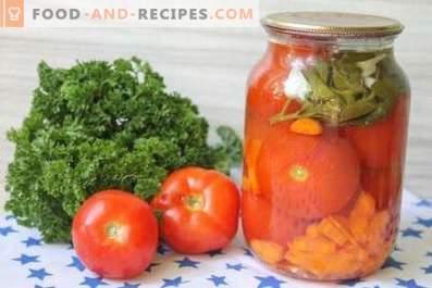 Eingelegte Tomaten mit Möhren
