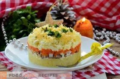 Wie man Mimosen-Salat zubereitet