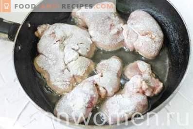 Gebratene Hühnerleber mit Zwiebeln