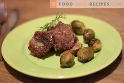 Rindfleisch mit Rosenkohl