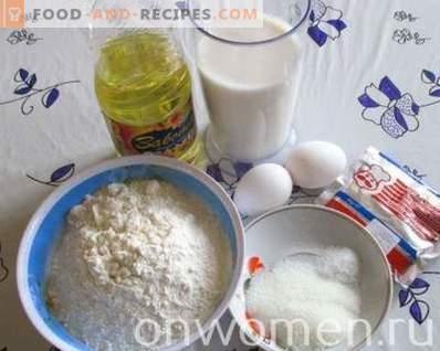 Dicke Pfannkuchen mit Hefe