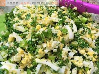 Füllung für Torten mit Ei und Zwiebeln