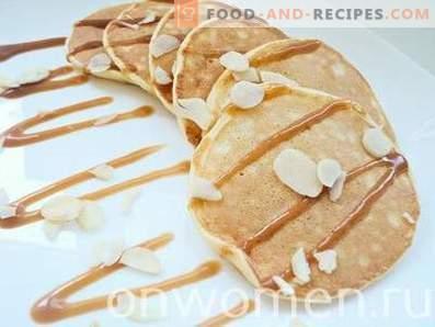 Dünne Pfannkuchen auf Kefir