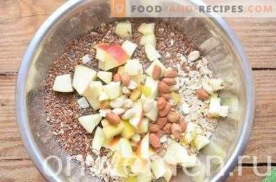 apfelgranola mit erdnüssen