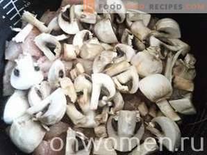 Hähnchenfilet mit Champignons in Sauerrahm