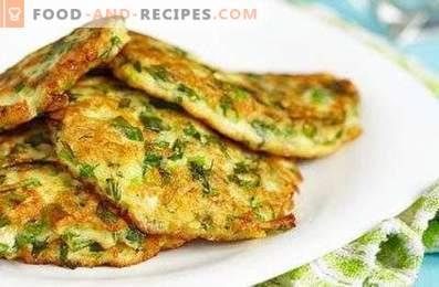Diät-Zucchini-Krapfen