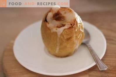 Bratäpfel mit Zucker im Ofen