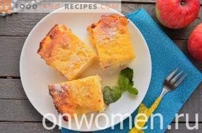 Hüttenkäse-Auflauf mit Äpfeln und Grieß