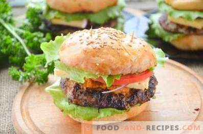 Hamburger mit Schweinefleisch