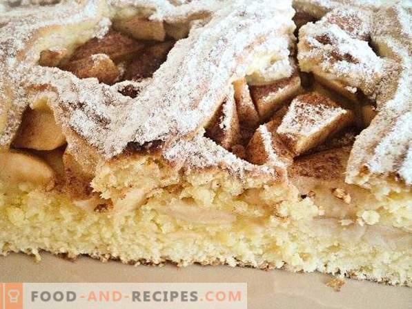 Pie with shortbread dough apples