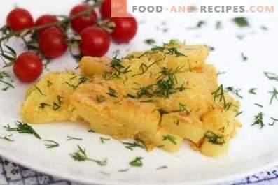 Kartoffeln mit Käse im Ofen