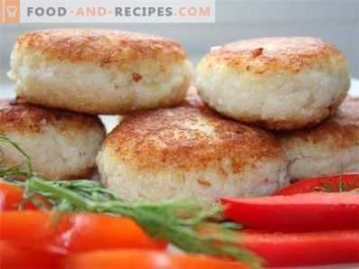 Fischkoteletts in einem langsamen Kocher