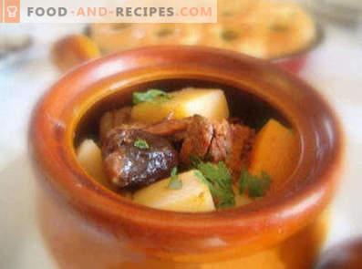 Rindfleisch mit Topfkartoffeln