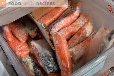 Aufbewahrung gesalzener roter Fische