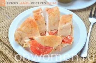 Hähnchenbrust mit Tomaten im Kefir gebacken