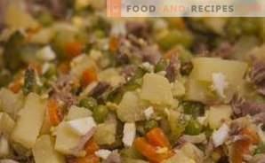 Wie man einen Salat zubereitet Olivier