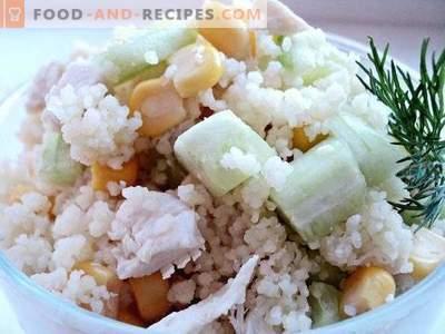 Salat mit Couscous und Hühnchen