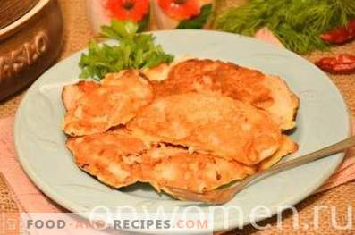 Hühnerbrust in Kefir-Teig gebraten