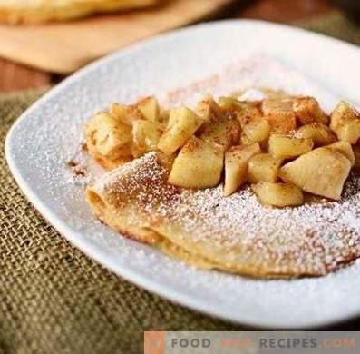 Füllung für Pfannkuchen aus Äpfeln