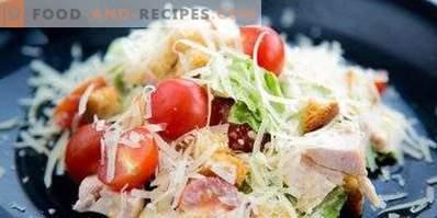 Cäsarsalat mit geräuchertem Hähnchen