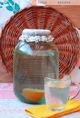 Birkensaft mit Orange aufrollen