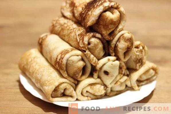 Pfannkuchen mit Garnelen