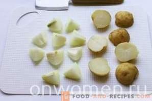 Kebabs aus Kartoffeln im Ofen