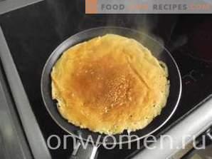 Diätpfannkuchen auf Kefir
