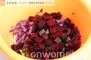Salat mit Rüben und Erbsen