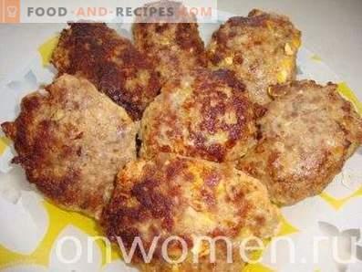 Fleisch Zrazy mit Ei und Zwiebeln