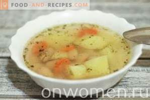 Bohnensuppe in einem langsamen Kocher