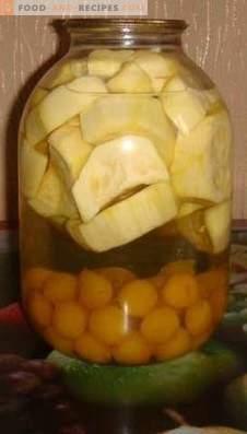 Kirschpflaumen-Zucchini-Kompotte für den Winter