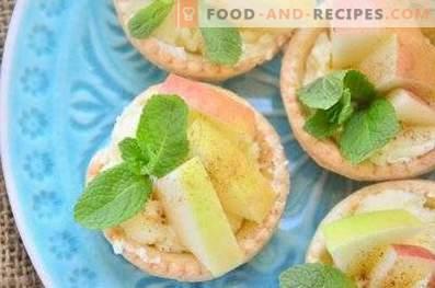 Törtchen mit Äpfeln und Buttercreme