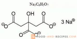 Natriumcitrat E331 - Schaden, Anwendung