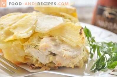Kartoffelauflauf mit Hähnchen im Ofen