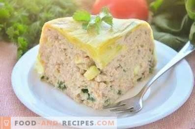 Hühnerterrine mit Zucchini und Spinat