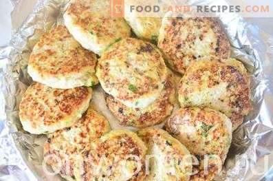 Hühnerkoteletts mit Zucchini und Gemüse