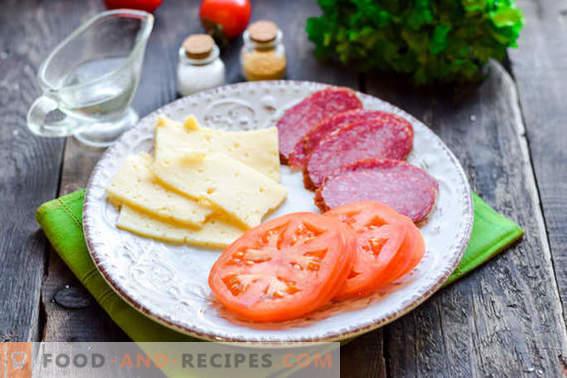 Heißer Pita-Snack mit Wurst und Käse: Nicht diätetisch, aber lecker