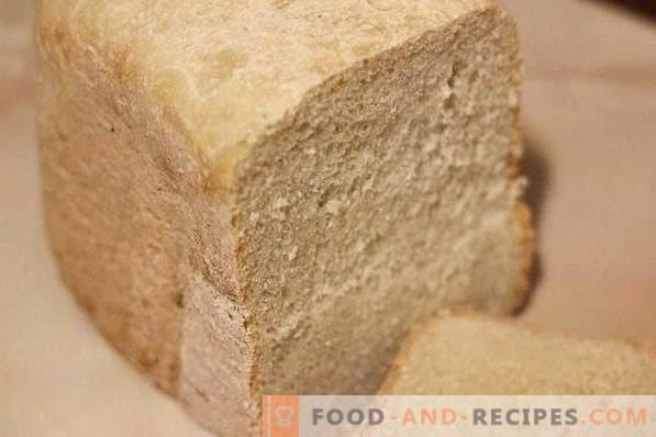 Weißbrot in der Brotbackmaschine