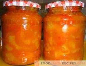 Lecho mit Tomatenpaste für den Winter