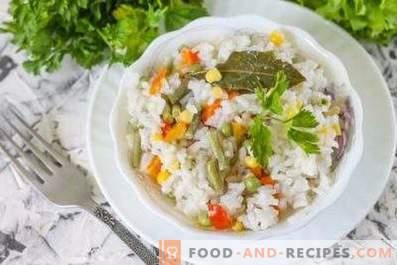 Reis für eine Beilage in einem langsamen Kocher