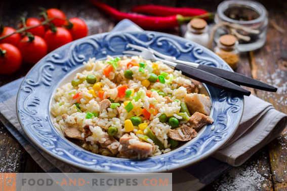 Schneller Pilaw mit Fleisch und Gemüse