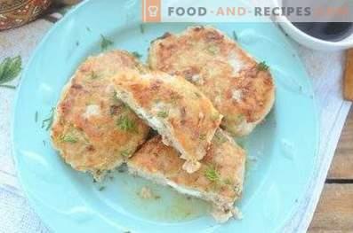 Truthahn- und Feta-Koteletts
