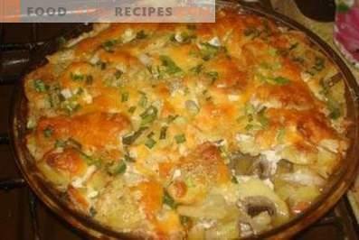 Französisches Fleisch mit Kartoffeln im Ofen.