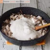 Universalsoße mit Hähnchen und Pilzen