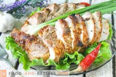 Bei welcher Temperatur soll Schweinefleisch gebacken werden